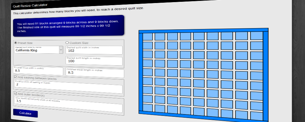 Free Advanced Quilting Calculators